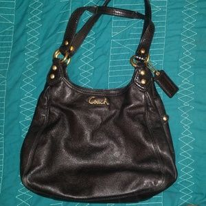 COACH handbag w gold hardware
